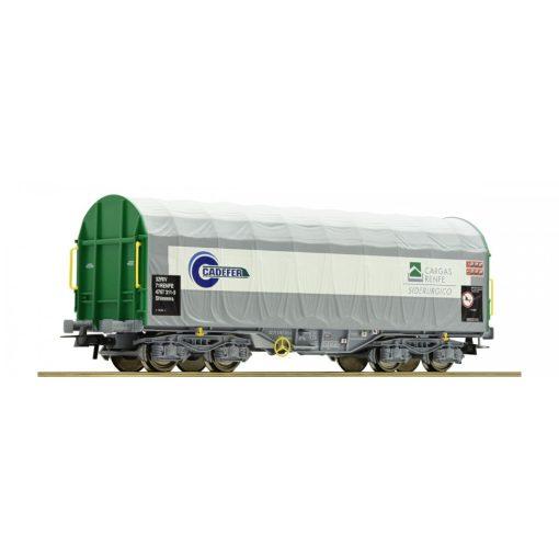 Roco 67314 Ponyvás négytengelyes teherkocsi Shimmns, Cadefer / RENFE (E6)