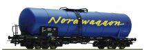 Roco 67438 Tartálykocsi, négytengelyes fékállással, Nordwaggon, SJ (E5)