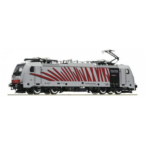 Roco 73318 Villanymozdony BR 186, piros Zebra festés, Railpool / RTC (E6) (H0)