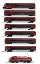 Roco 74114 Komplett Railjet személyvonat mozdonnyal, Railjet 133 Wien - Venezia (Spirit of Ven