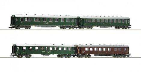 Roco 74126 Személykocsi készlet, 4-részes négytengelyes gyorsvonati kocsik, SBB