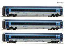 Roco 74139 Személykocsi-készlet, 3-részes CD Railjet, CD (E6) (H0)