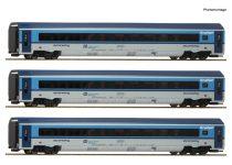 Roco 74140 Személykocsi-készlet, 3-részes CD Railjet, CD (E6) (H0) - DCC kuplung és belső