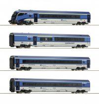Roco 74143 Személykocsi-készlet vezérlőkocsival, 4-részes CD Railjet, CD (E6) (H0) - DCC k