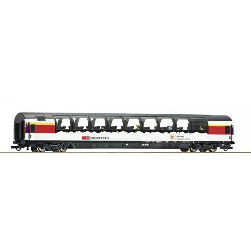 Roco 74400 Kilátókocsi, négytengelyes panorámakocsi, Gotthard Panorama Express Design, SBB