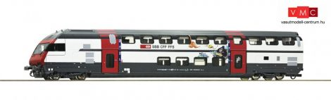 Roco 74505 Emeletes négytengelyes vezérlőkocsi, IC 2000, Bt, SBB (E6) (H0) - Ticki Park Desi