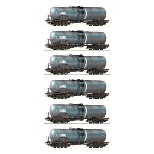 Roco 75972 Tartálykocsi, négytengelyes GATX, gyárilag öregbített (E6) - Display