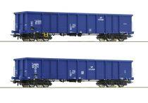 Roco 76044 Nyitott négytengelyes teherkocsi-pár, Eanos, PKP Cargo (E6)