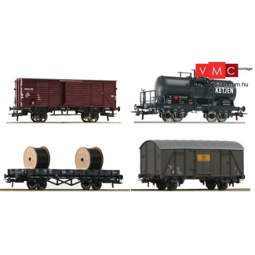 Roco 76134 Teherkocsi készlet, 4-részes, NS (E3)