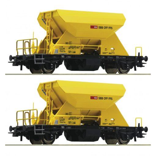Roco 76154 Önürítős kőszállító teherkocsi-pár, Fccnpps, SBB (E6)