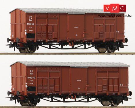 Roco 76162 Fedett sátortetős teherkocsi-pár, FS (E2)