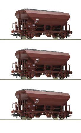 Roco 76173 Önürítős teherkocsi-készlet, 3-részes Fcs, barna, CFL (E4)