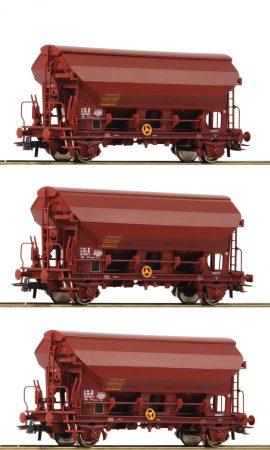 Roco 76178 Önürítős billenőtetős teherkocsi-készlet, 3-részes Tds, barna, SNCF (E4-5)
