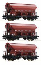 Roco 76179 Billenőtetős önürítős teherkocsi készlet, 3-részes Tds, SNCB (E4) (H0)