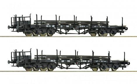 Roco 76195 Rakoncás négytengelyes sínszállító teherkocsi-pár, ÖBB (E3)