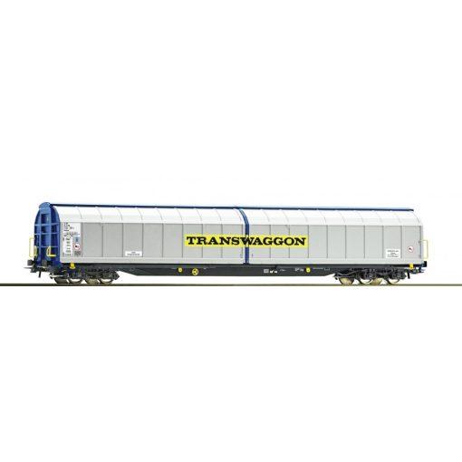 Roco 76481 Eltolható oldalfalú négytengelyes teherkocsi, Transwaggon (E5-6)