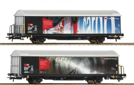 Roco 76490 Eltolható oldalfalú teherkocsi, Hbils, Swiss Quality, SBB (E6)