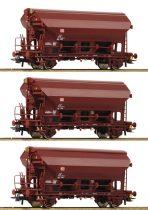 Roco 76575 Önürítős billenőtetős teherkocsi-készlet, 3-részes Tdgs, DB-AG (E5)