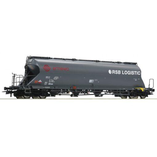 Roco 76707 Poranyagszállító négytengelyes teherkocsi, Uacs, ERMEWA - RSB-Logistic (E6) (H0)