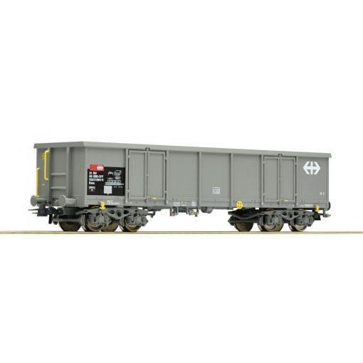 Roco 76818 Nyitott négytengelyes teherkocsi, szürke Eaos, SBB (E5)
