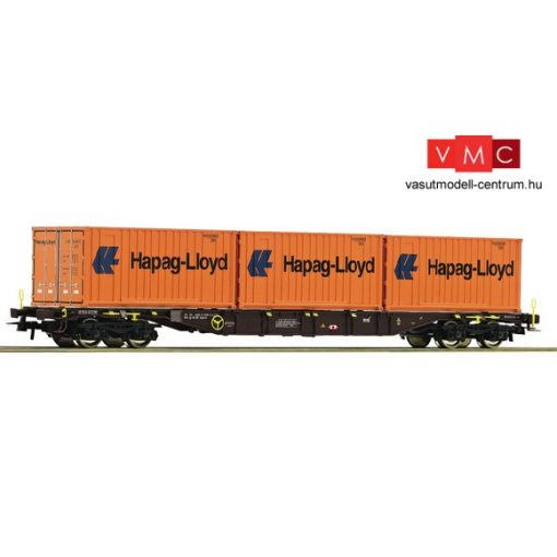 Roco 76930 Konténerszállító négytengelyes teherkocsi, Hapag-Lloyd, ÖBB (E6)