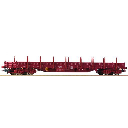 Roco 76982 Alacsony oldalfalú rakoncás négytengelyes teherkocsi, Res, CSD (E4)