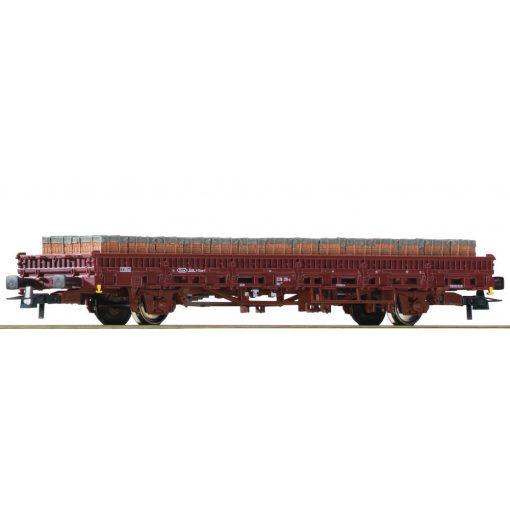 Roco 76987 Rakoncás teherkocsi, tégla rakománnyal, DB-AG (E6)