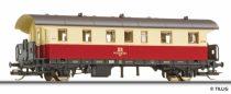 Tillig 13016 Személykocsi, 2.osztály, DR, Donnerbüchse, bézs-vörös (TT)