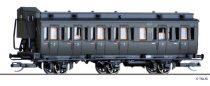 Tillig 13150 Oldalfellépős háromtengelyes személykocsi fékházzal, 3. osztály, DRG (E2) (