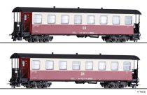 Tillig 13981 Személykocsi-pár, 2 db négytengelyes KB4ip, DR (E4) (H0m)