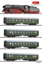 Tillig 1430 Analóg kezdőkészlet: BR 01.5 gőzmozdony 4 db személykocsival, modellsínnel (T