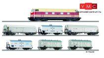 Tillig 1435 Analóg kezdőkészlet: V 180 dízelmozdony hűtőkocsikkal, modell sínekkel, DR (