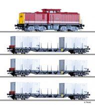 Tillig 1439 Analóg kezdőkészlet: BR 108 dízelmozdony tehervonattal, DR (E4)