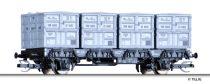 Tillig 14912 Háztól-házig konténerszállító teherkocsi, Btms, DB (E3)
