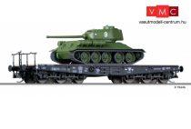 Tillig 15620 Nehézteherszállító hattengelyes Px teherkocsi, CSD, T34/85 harckocsival (E3)