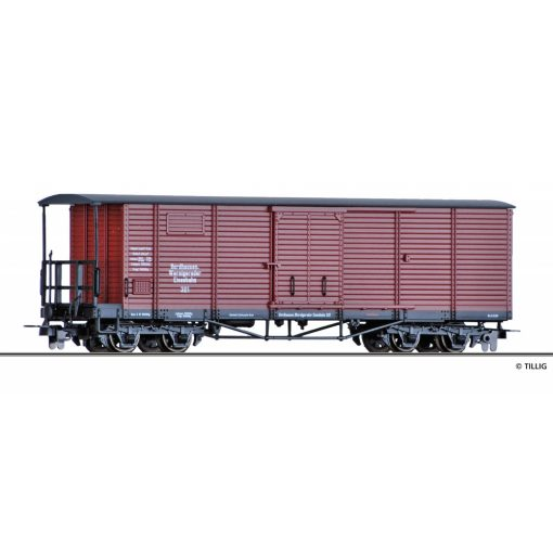 Tillig 15940 Fedett négytengelyes teherkocsi, Gml, NWE (Nordhausen-Wernigeroder Eisenbahn-Gese