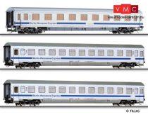 Tillig 1601 Személykocsi készlet, 3 részes DB-AG, Berlin-Warszawa Express (TT)