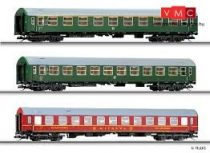 Tillig 1605 Személykocsi-készlet (3 részes), DR, négytengelyes Y-sorozat, 1.osztály/2.oszt