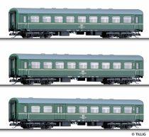 Tillig 1610 Személykocsi-készlet (3 részes), négytengelyes Reko, DR, 2. osztály (2x)/2.osz