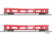Tillig 1640 Négytengelyes autószállító teherkocsi-pár, DB-AG (E6) (TT)