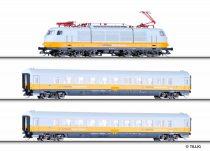 Tillig 1653 Airport Express 1 személyvonat készlet, BR 101 villanymozdony 2 db személykocsiv