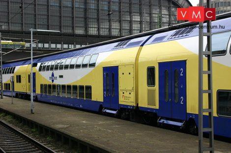 Tillig 1665 Emeletes személykocsi-készlet (3-részes), Metronom (E6) (TT)