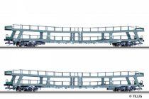 Tillig 1669 Négytengelyes autószállító teherkocsi-pár, DB (E4) (TT)
