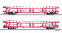 Tillig 1670 Négytengelyes autószállító teherkocsi-pár, CD (E6 (TT)