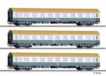 Tillig 1699 Személykocsi-készlet, 3-részes négytengelyes Y-sorozat, DB-AG (E5)
