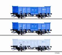Tillig 1716 Nyitott teherkocsi-készlet, 3-részes Es, CD Cargo (E6)