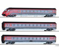 Tillig 1755 Személykocsi-készlet, 3-részes Railjet, vezérlőkocsival, ÖBB (E6)