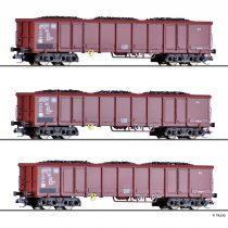 Tillig 1771 Teherkocsi-készlet, 3-részes négytengelyes Eanos 052, DB, szén rakománnyal (E4