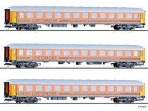Tillig 1779 Személykocsi-készlet, 3-részes négytengelyes m-sorozat, LOCOMORE (E6)