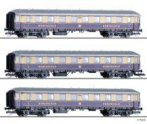 Tillig 1784 Személykocsi-készlet, 3-részes négytengelyes Rheingold-Express, DRG (E2) (TT)